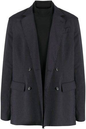 Opening Ceremony 2 in 1 double-breasted pinstriped blazer