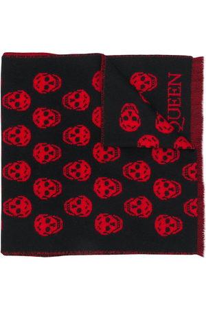 Alexander McQueen Skull-intarsia scarf