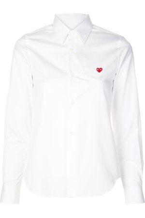 Comme des Garçons Logo heart print shirt