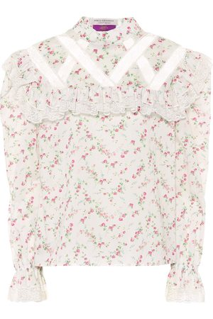 Serafini Floral cotton top