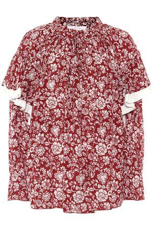Chloé Floral cotton voile blouse