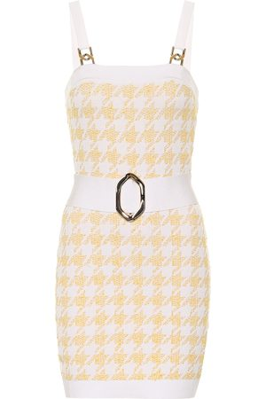 Balmain Women Bodycon Dresses - Exclusive to Mytheresa – Houndstooth jacquard bodycon minidress