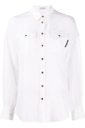Brunello Cucinelli Press-stud silk shirt