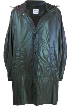 MARCELO BURLON Iridescent lightweight raincoat