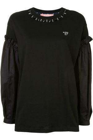 BAPY Contrast-sleeve sweatshirt