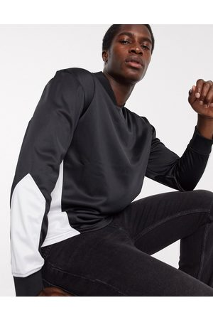 Topman Panelled v neck jumper in