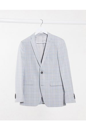 Esprit Slim Suit jacket in blue and check