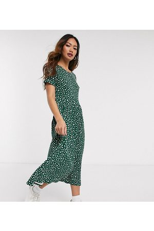Wednesday's Girl Midi smock dress in smudge spot print