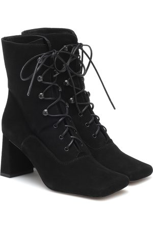 By Far Women Ankle Boots - Claude lace-up suede ankle boots