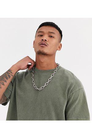 Reclaimed Vintage Inspired oversized overdye t-shirt in khaki