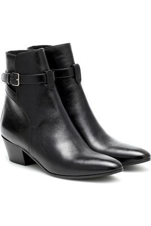 Saint Laurent West Jodhpur 45 leather ankle boots