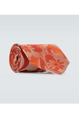 DRIES VAN NOTEN Flower printed silk tie