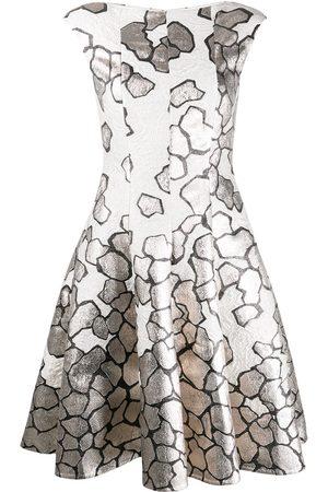 TALBOT RUNHOF Jacquard fit and flare dress