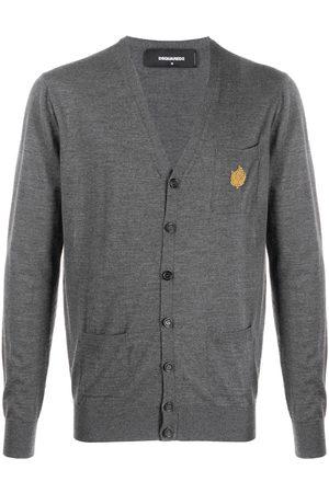 Dsquared2 Leaf-appliqué v-neck cardigan