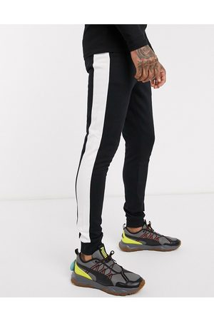 ASOS ORGANIC skinny joggers with side stripe in