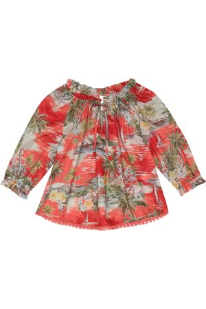 ZIMMERMANN Juliette floral cotton top