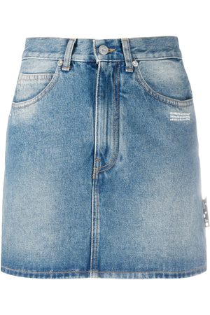 OFF-WHITE High waist denim skirt