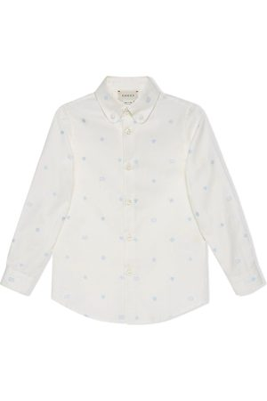 Gucci Embroidered symbols Oxford shirt