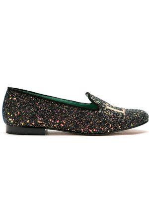 Blue Bird Women Loafers - Love glitter loafers