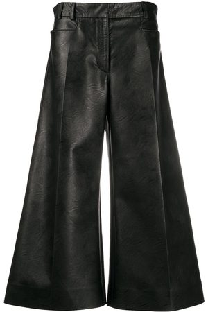 Stella McCartney Faux-leather wide-leg trousers