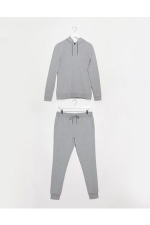 ASOS Organic muscle tracksuit with hoodie in marl