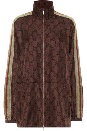 Gucci GG Supreme printed silk-twill jacket