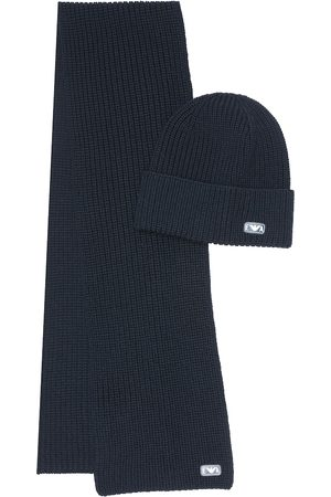 Emporio Armani Virgin wool hat and scarf set