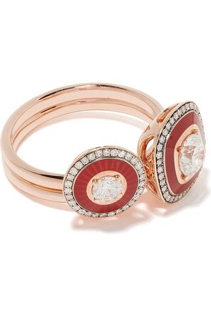 SELIM MOUZANNAR 18kt rose diamond ring set