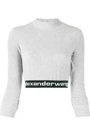 Alexander Wang Long-sleeve crop top