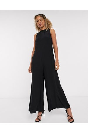 & OTHER STORIES High neck romper jumpsuit in