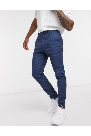 ASOS Super skinny smart trousers in linen