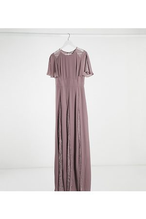 ASOS ASOS DESIGN Tall maxi dress with lace panels and blouson bodice