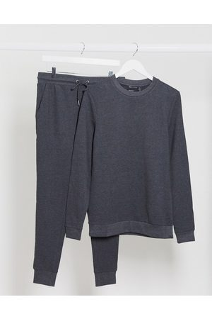 ASOS Organic muscle tracksuit in charcoal