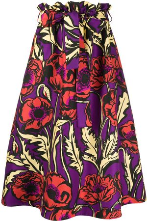 La DoubleJ Big Blooms A-line midi skirt