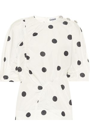 Ganni Polka-dot top
