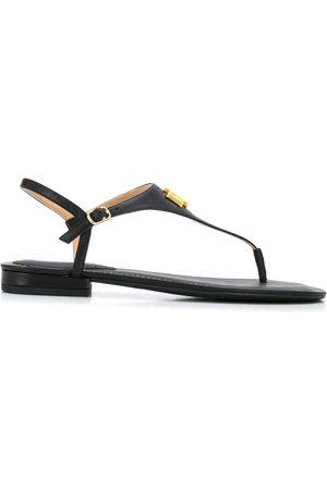 LAUREN RALPH LAUREN Women Sandals - Logo plaque flat sandals