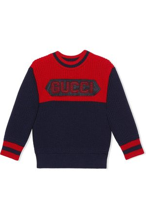Gucci Gucci patch crew neck jumper