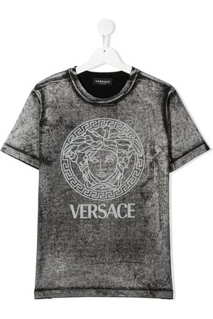 VERSACE Distressed logo T-shirt
