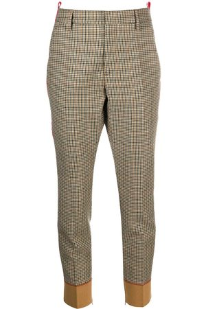 Dsquared2 Logo tape checked trousers