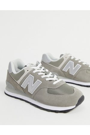New Balance Men Boots - 574 trainers in dark suede