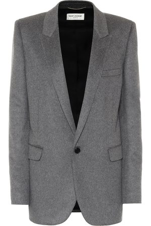 Saint Laurent Cashmere and wool flannel blazer