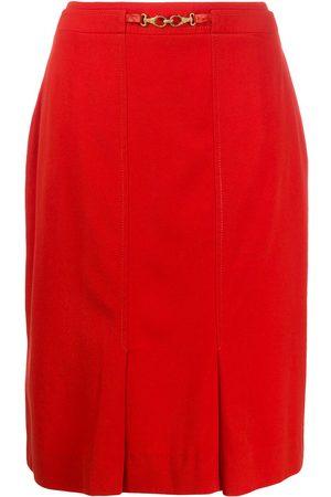 Céline Hook detail straight skirt