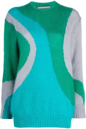 Alberta Ferretti Abstract pattern crewneck jumper