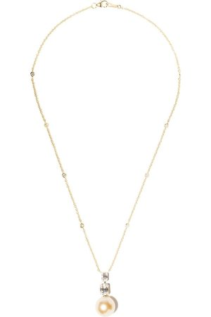 Yoko London Women Necklaces - 18kt yellow gold Starlight Golden South Sea pearl and diamond necklace