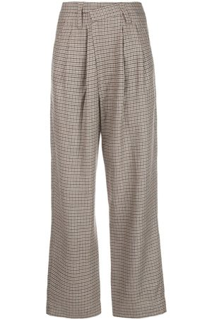 Brunello Cucinelli Houndstooth check twist trousers