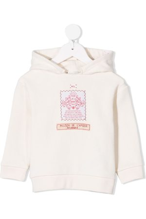 Gucci Label-embroidered long-sleeve hoodie