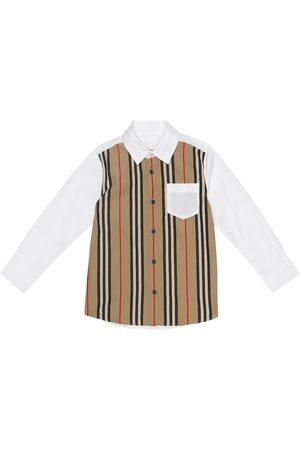 Burberry Icon Stripe stretch-cotton shirt