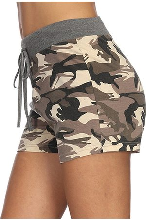 YOINS Women Shorts - Army Green Camo Drawstring Waist Shorts