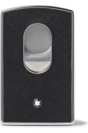 Mont Blanc Sartorial Cross-Grain Leather and Silver-Tone Card Case