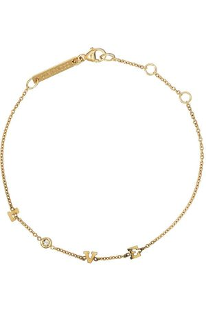Zoe Chicco 14kt Itty Bitty spread out LOVE diamond bracelet